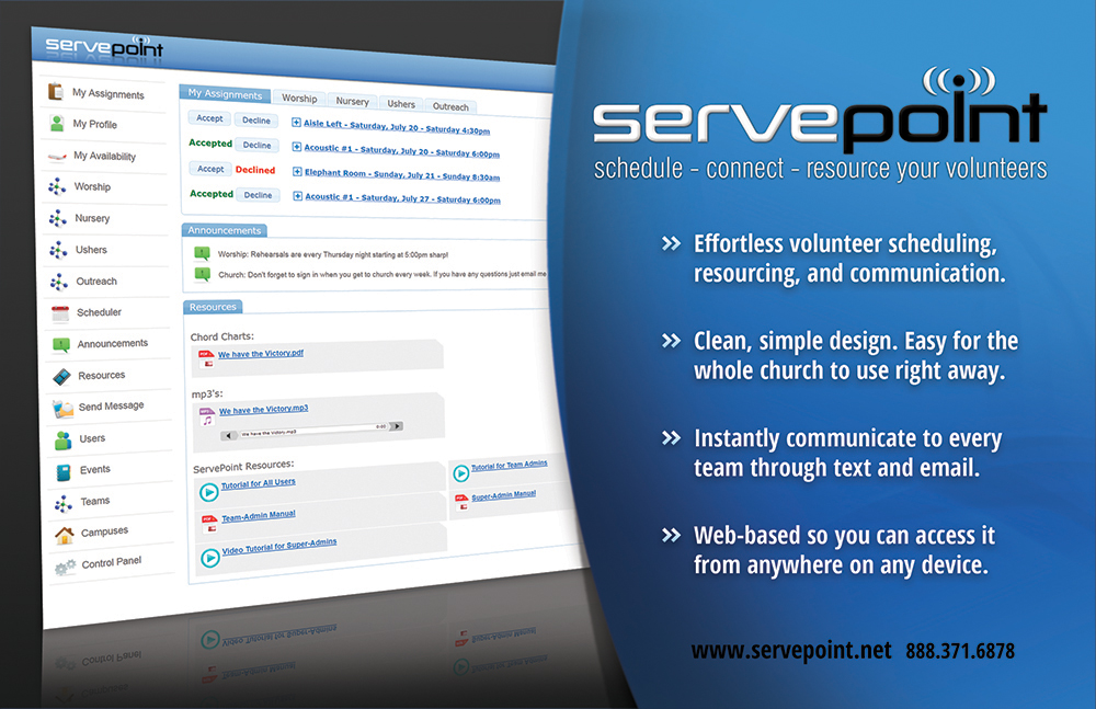 connect iphone to computer announcing servepoint volunteer scheduling 6878